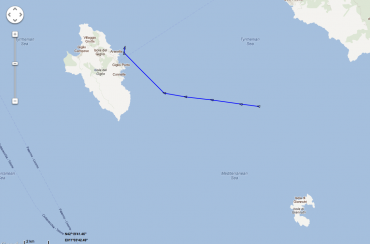Costa Concordia' last positions right before the accident © Marine Traffic
