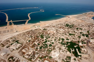 Vue aérienne du village de Jazira Al Hamra © Philippe Henry / OCEAN71 Magazine