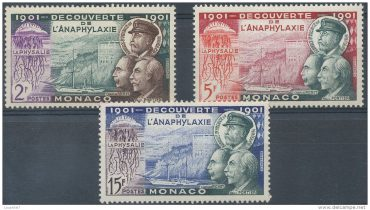 1901 stamps from Monaco, printed after Charles Richet's study on the Physalia © Delcampe Luxembourg SA