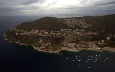 The Oceanological Observatory of Villefranche-sur-Mer (the group of buildings on the bottom right) are ideally situated in the bay © Andy Guinand / OCEAN71 Magazine